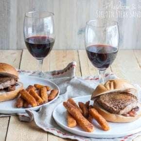 Mushroom-and-wine-sirloin-steak-sandwiches
