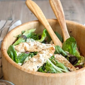 Yogurt Lemon Chicken and Feta Salad