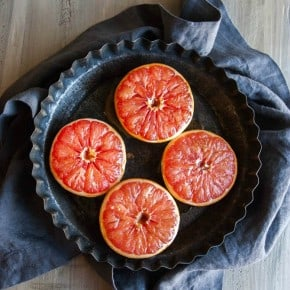 Brown sugar and honey baked grapefruit