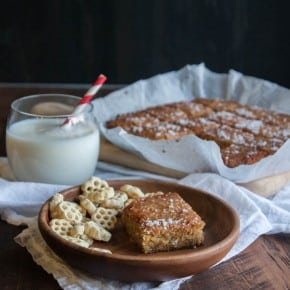 Salted honey blondies from @sweetphi