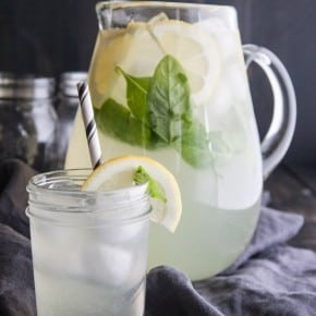 Basil lemonade - the most refreshing summer drink - recipe from @sweetphi