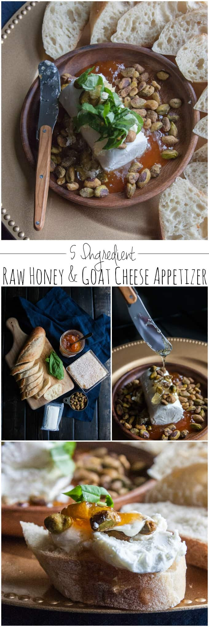 A super easy and delicious honey adn goat cheese appetizer