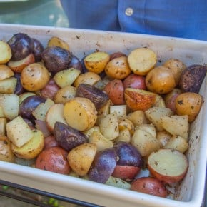 Roasted potato and kohlrabi salad from @sweetphi
