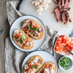 Surf and turf melts (lobster and steak sandwiches) from @sweetphi