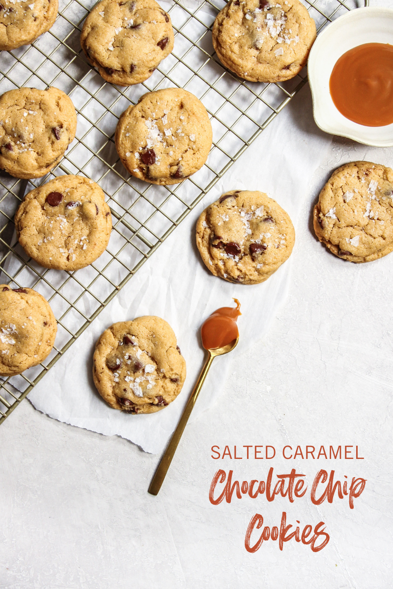 The best ever Salted Caramel Chocolate Chip Cookies