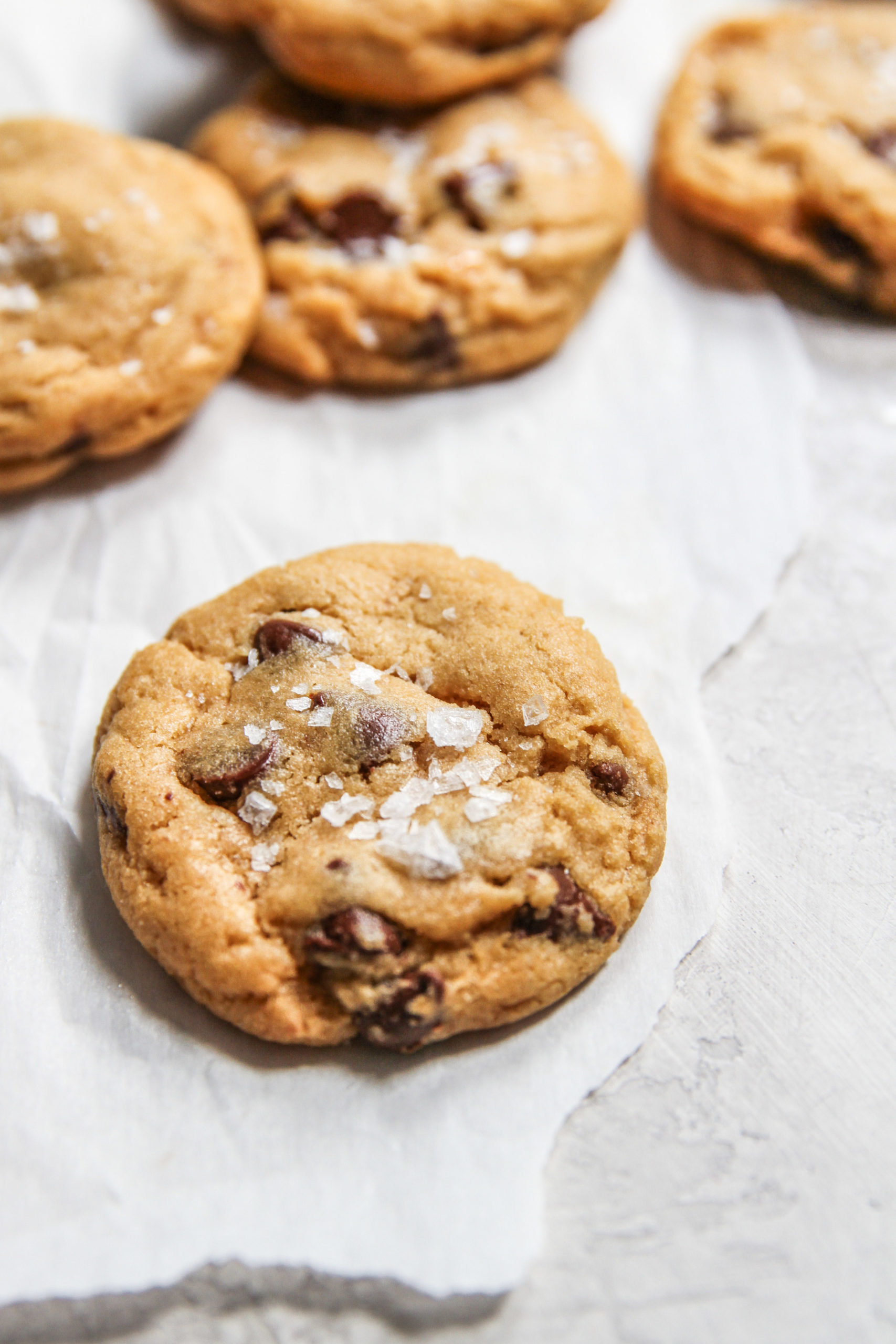 The most delicious salted caramel chocolate chip cookies