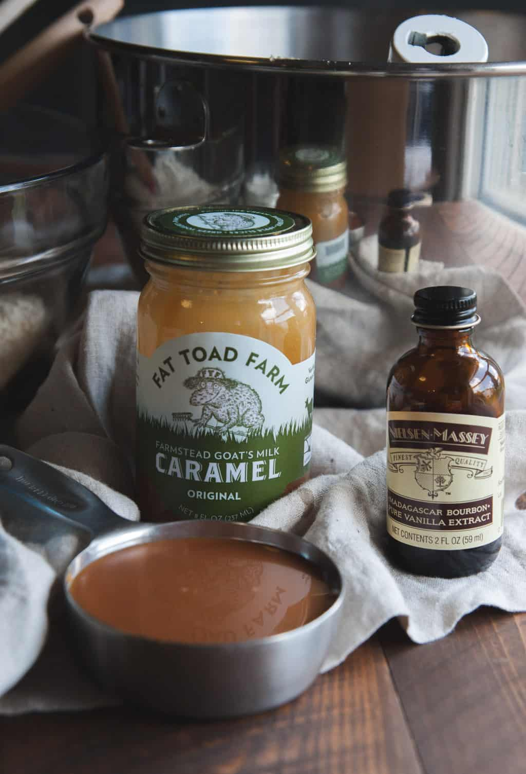 Using the best Fat Toad Farm caramel and Nielsen Massey Vanilla