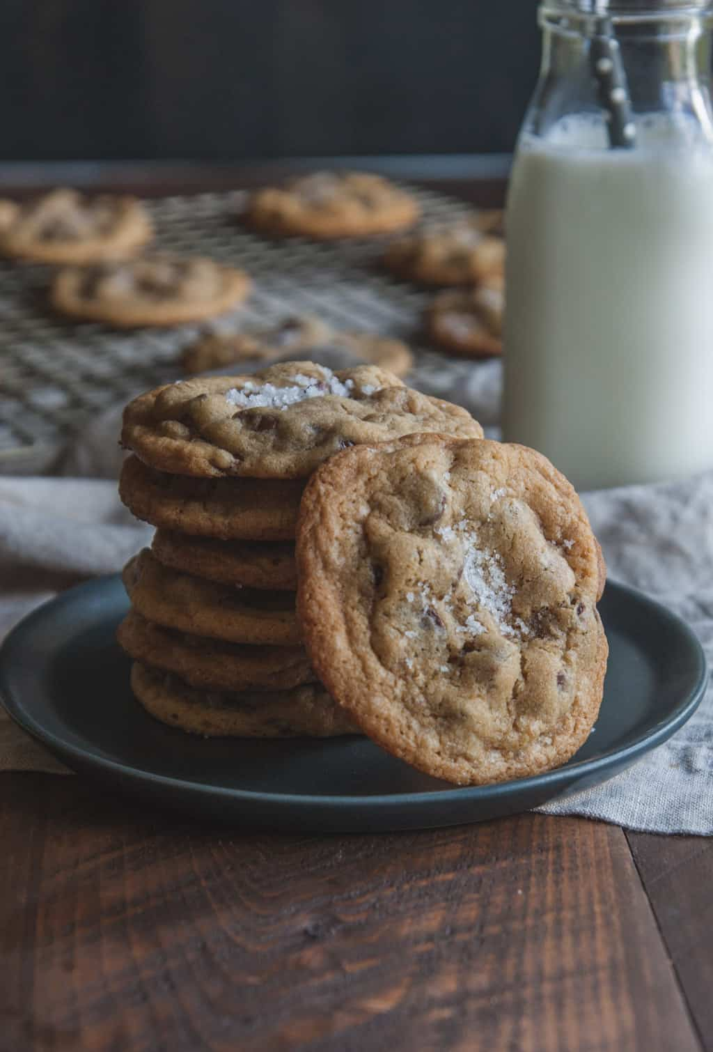 The most amazing salted caramel chocolate chip cookies