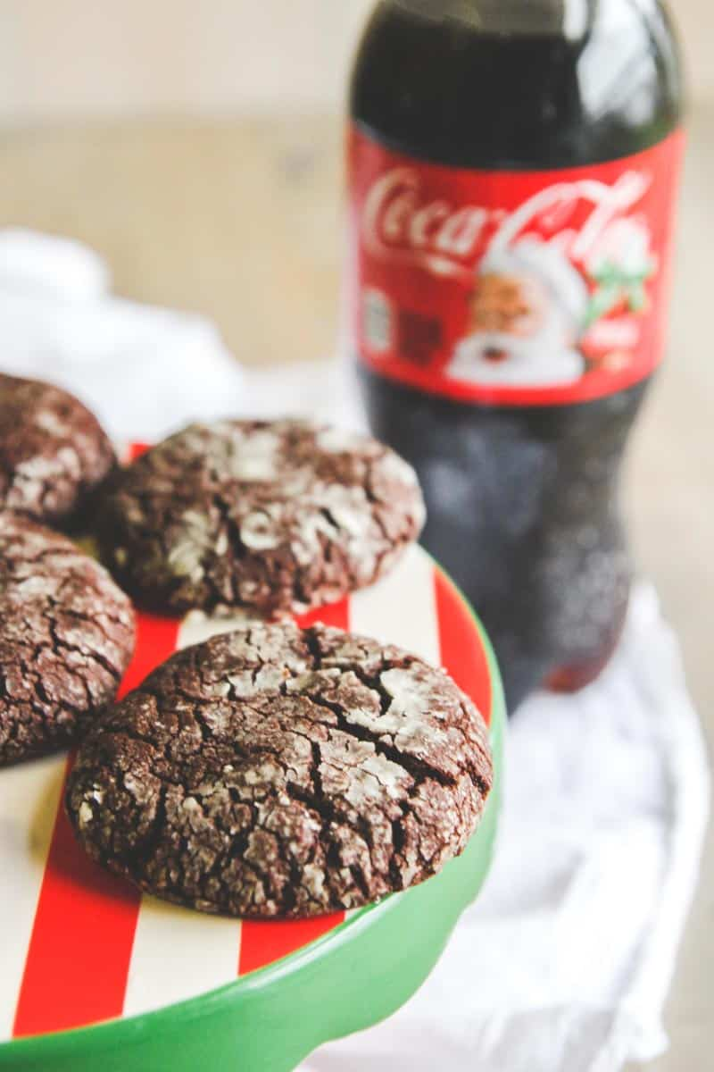 Holiday Party Spread And Coca Cola Brownie Crinkle Cookies