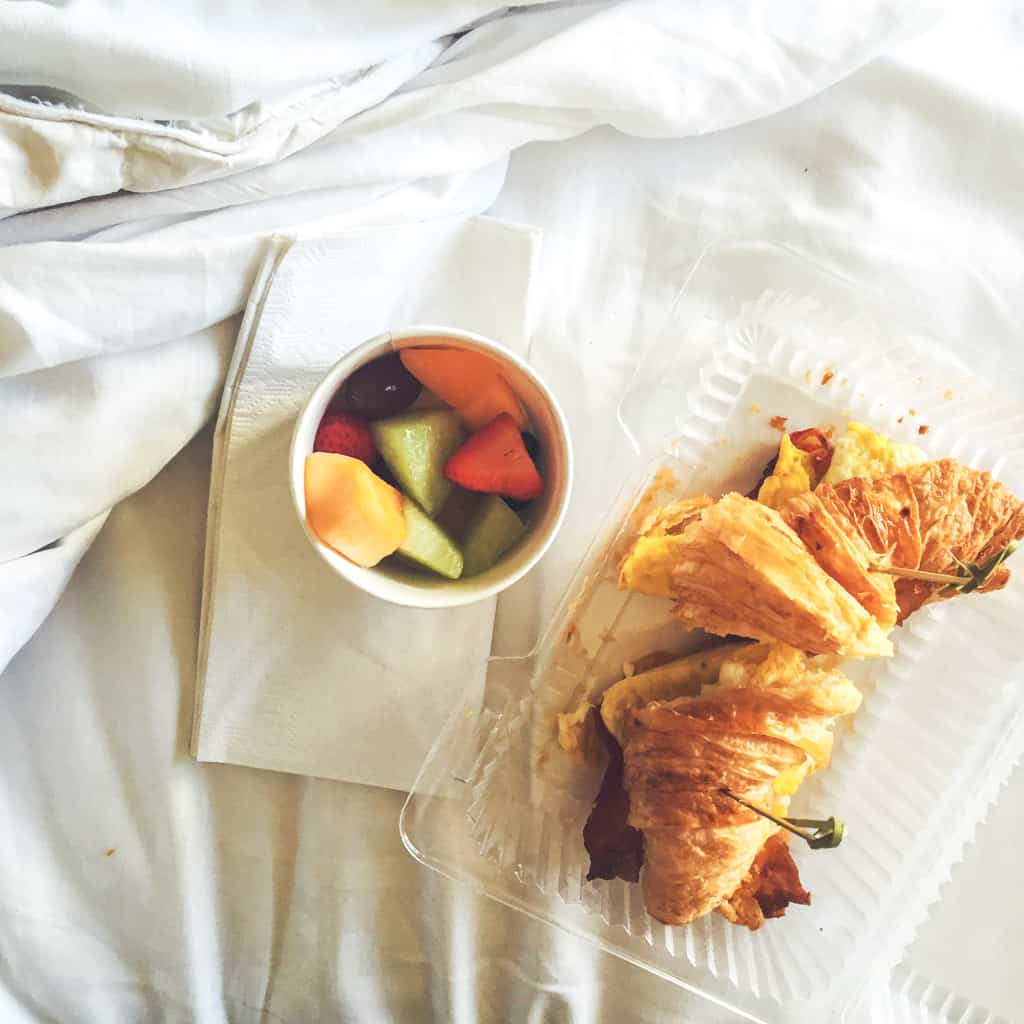 Breakfast in bed at Kohler