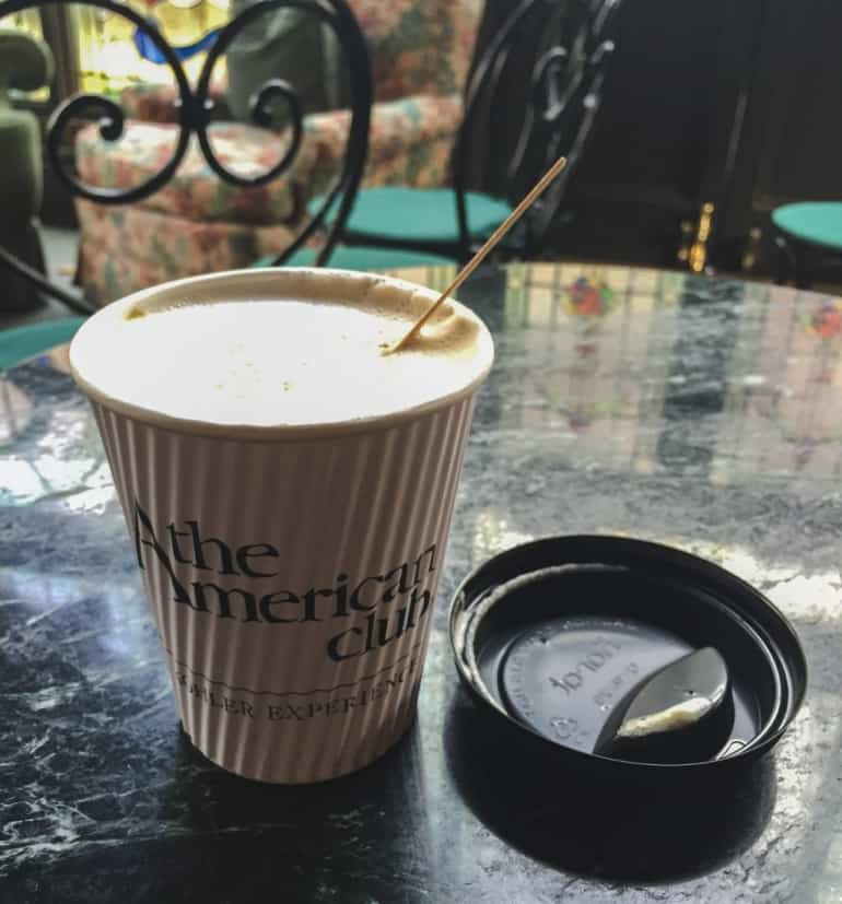 latte at the american club