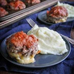 Mini Cheese Stuffed Meatloaf Cups