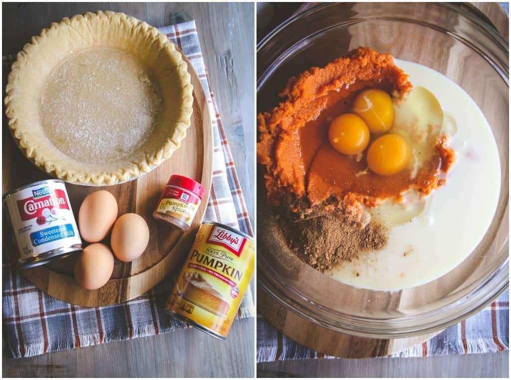 The most amazing, easy 5 ingredient pumpkin pie recipe