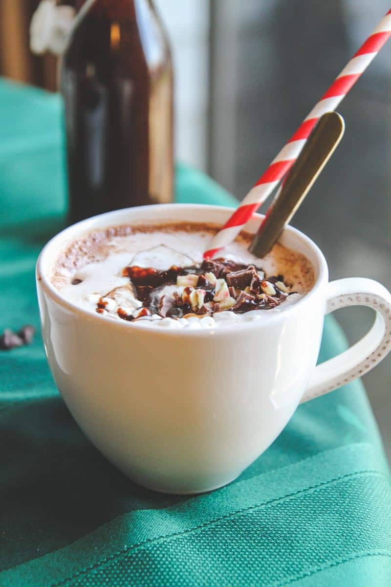 The most delicious homemade hot chocolate