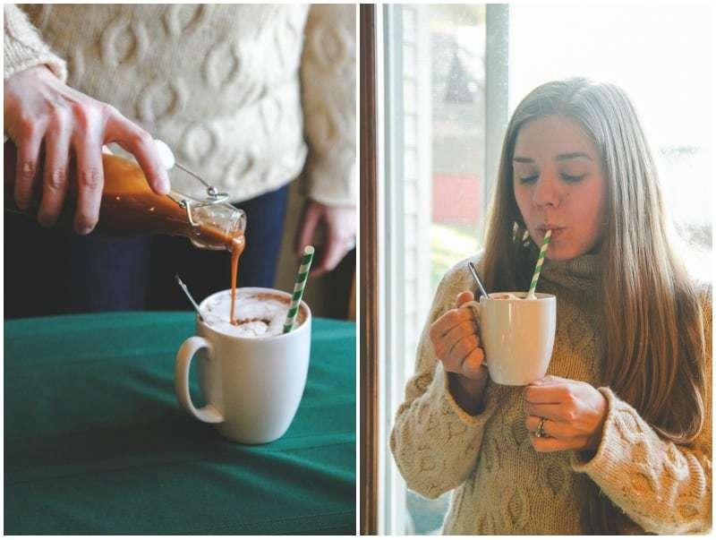 Easy hot chocolate bar with homemade hot chocolate