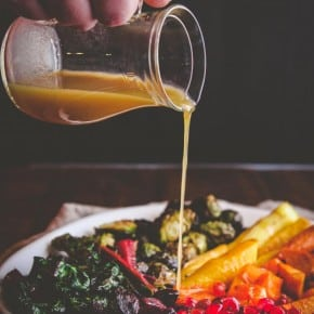 Roasted Winter Vegetable Rainbow Salad