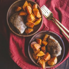 5 Ingredient Baked Chicken and Sweet Potatoes for Two