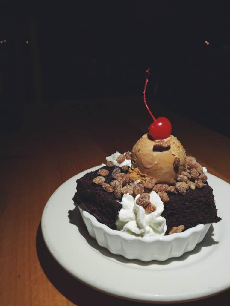 The dessert to end all other desserts: creme brulee brownie sundae
