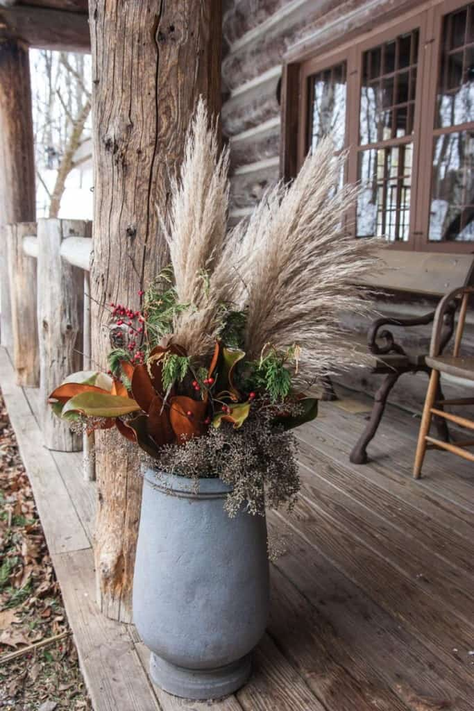 Beautiful outdoor floral arrangements at The American Club Resort in Kohler, WI
