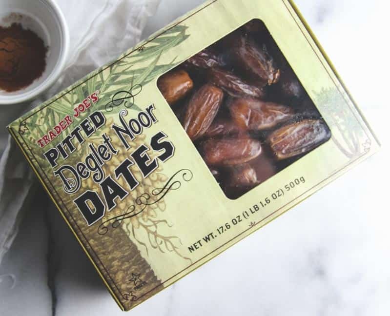 Dates from Trader Joes for healthy no bake energy bites