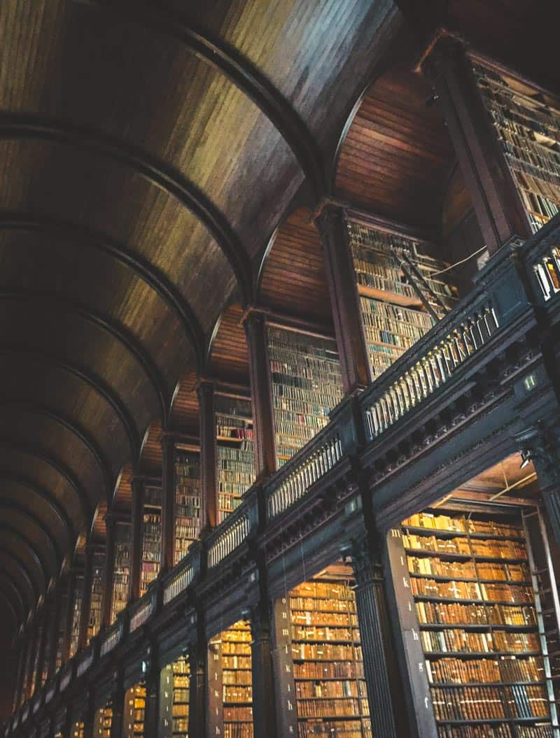 The long room library at Trinity College in Dublin