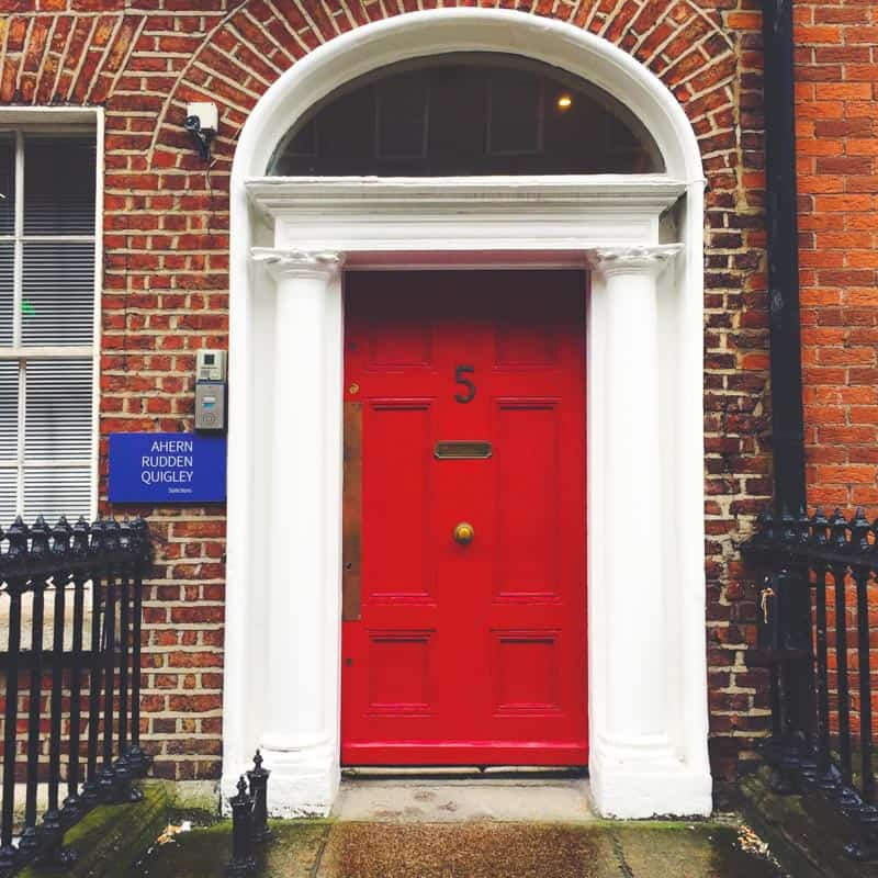 Exploring Dublin doors around Merrion Square