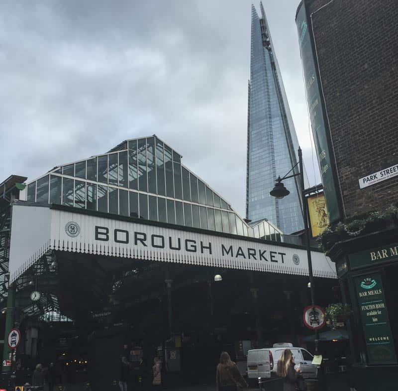 Exploring the Borough Market in London
