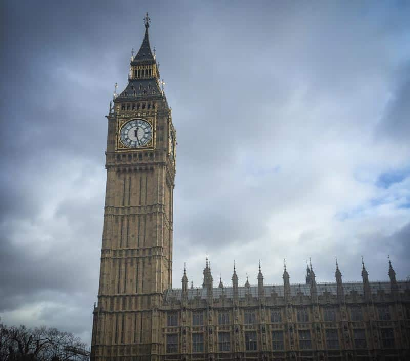 Sightseeing in London at Big Ben
