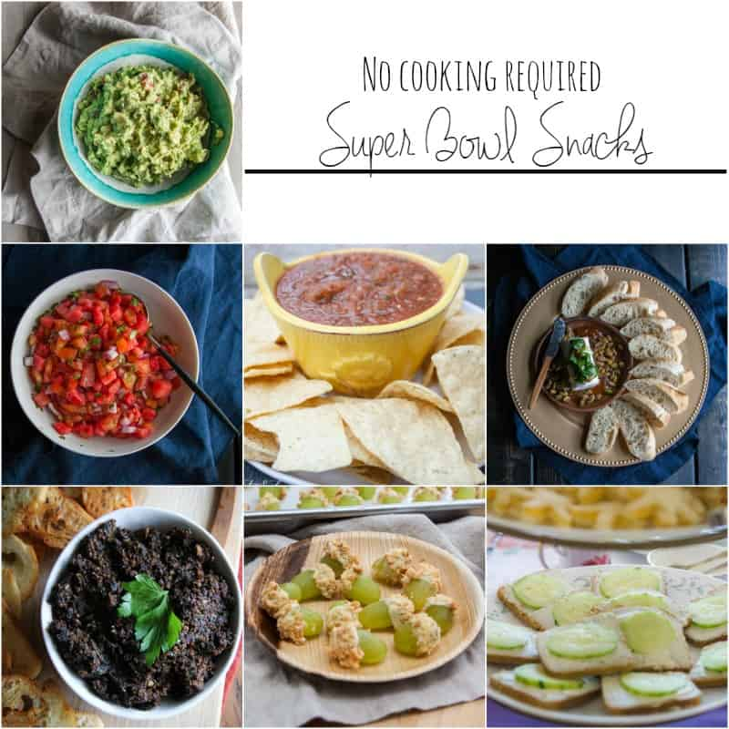 No bake super bowl snacks and appetizers