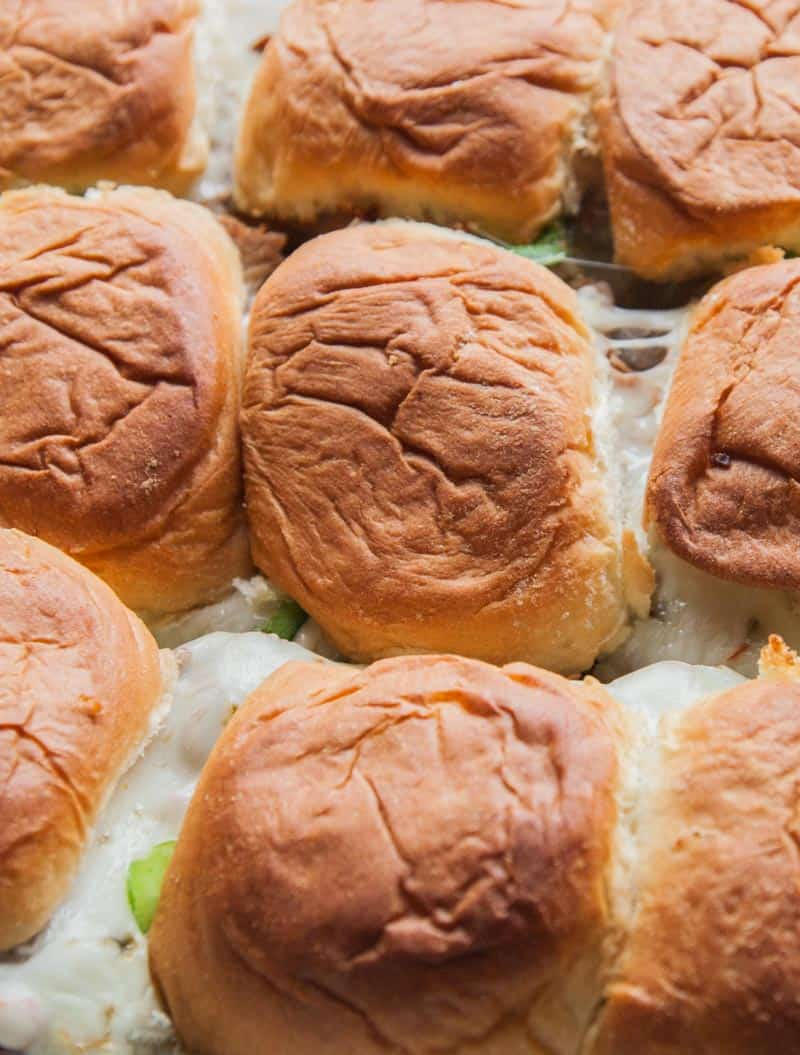 Roast beef sliders with the best sweet buns
