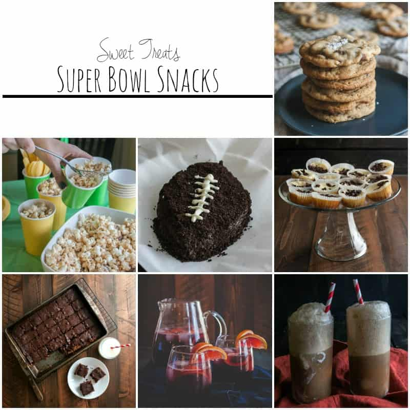Sweet treats that are perfect for the super bowl and football viewing parties!