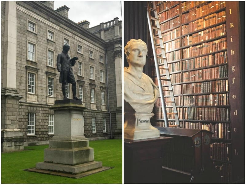Trinity College & The Large Room Library in the Dublin city guide