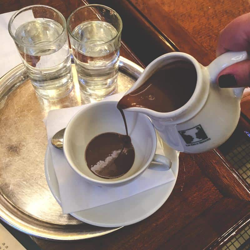 The best French hot chocolate you can find in Paris!