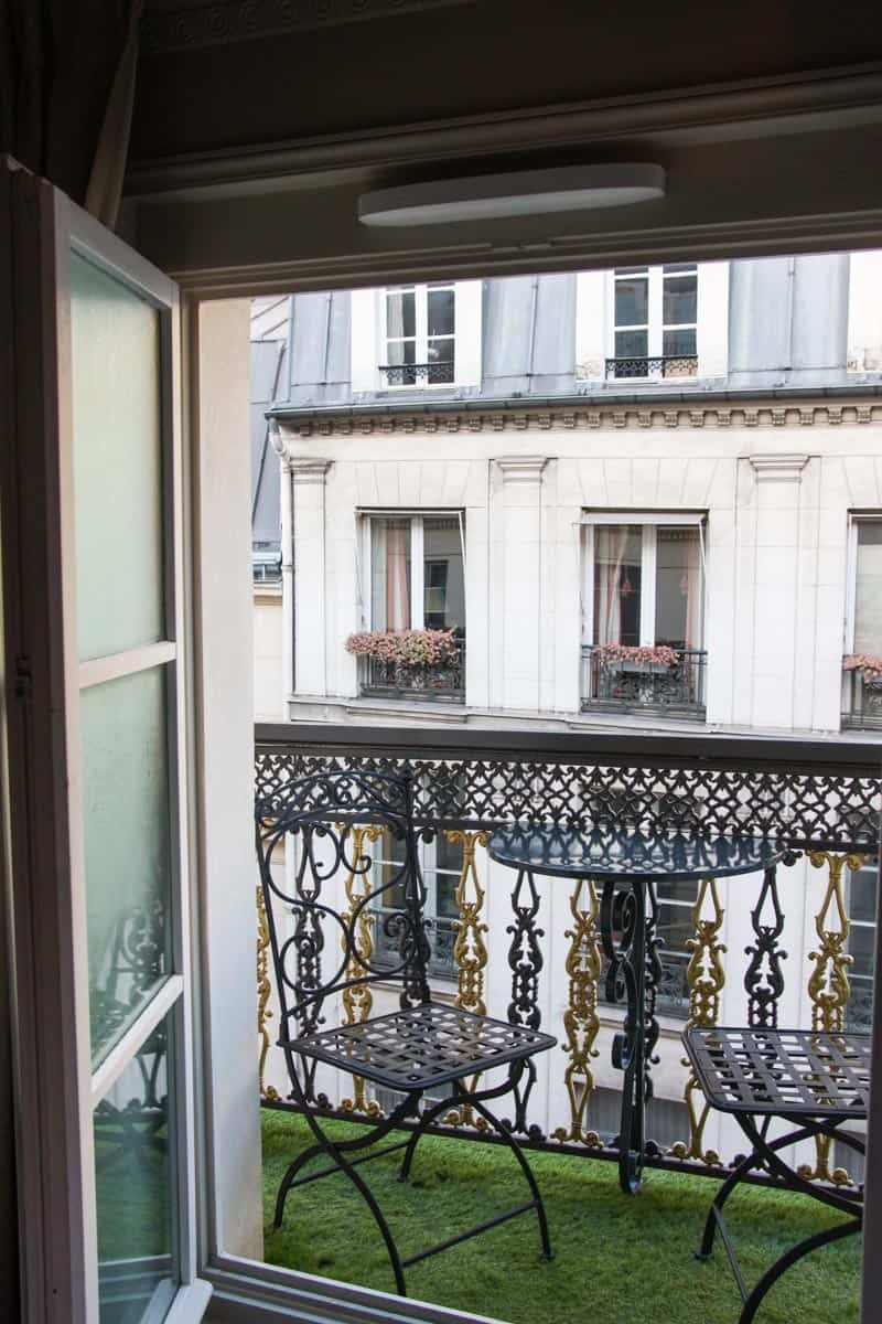 A gorgeous balcony view from Hotel Da Vinci in Paris!
