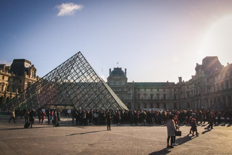 The Louvre from an art viewing trip in Paris!