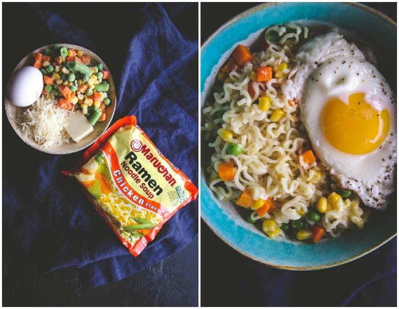 An amazing ramen dinner recipe with a fried egg