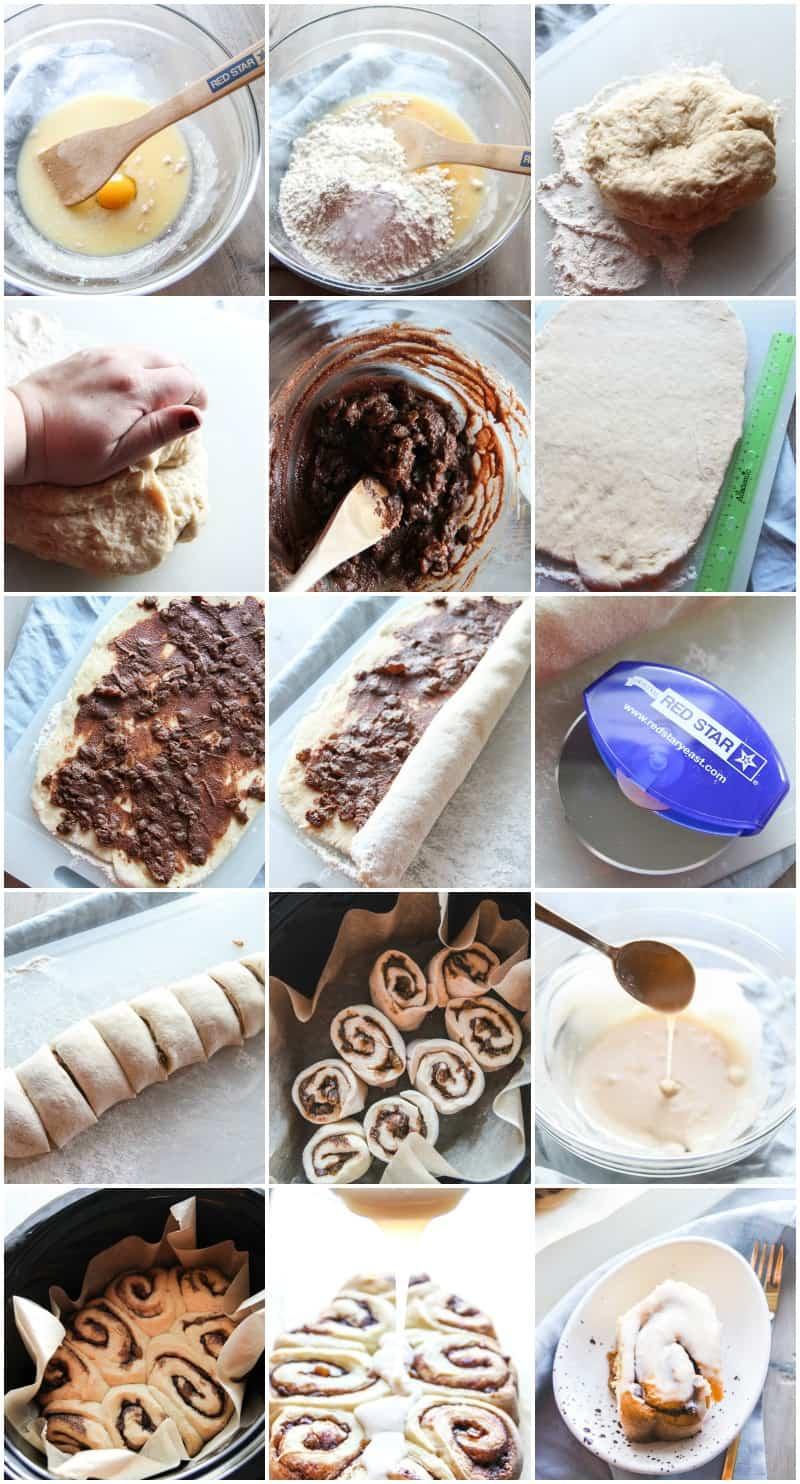 Super east slowcooker hot cross bun cinnamon rolls to make for your next brunch