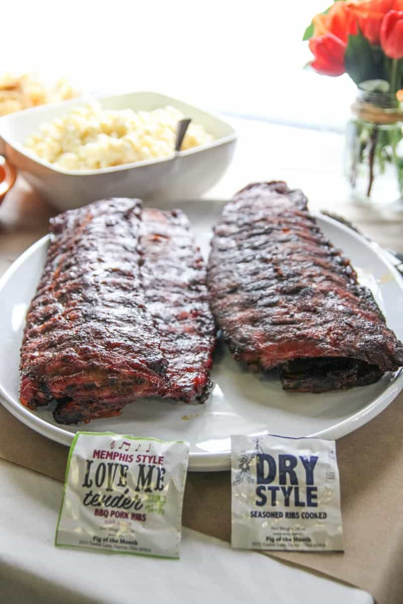 The best tasting memphis style and dry style ribs for a party