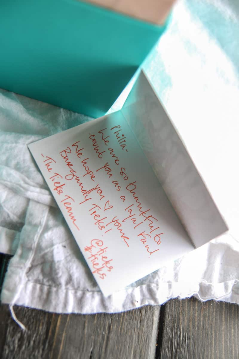 The cutest packaging from Tieks