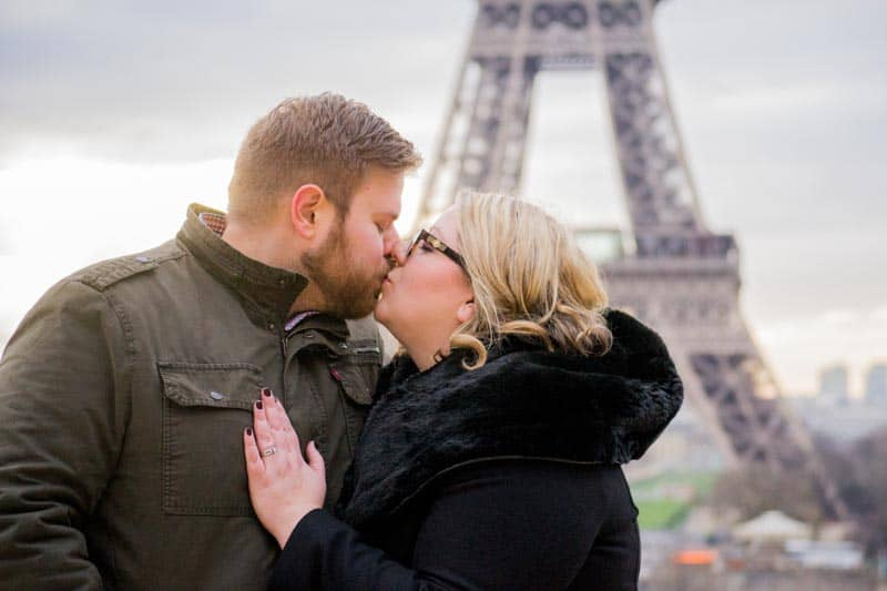 The best photos from a photshoot of me and my husband in Paris!