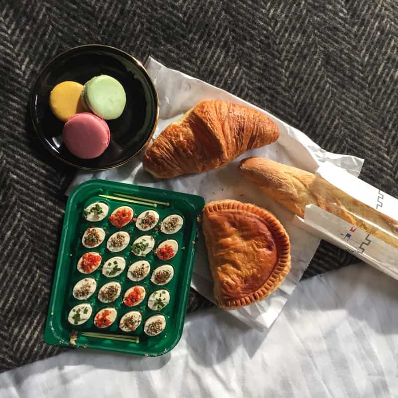 The best breakfast in bed at the Hotel Eugene En Ville in Paris