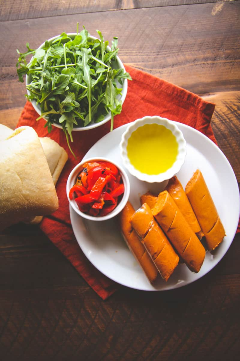 A super delicious 5 ingredient chorizo sandwich ingredients - recipe from @sweetphi