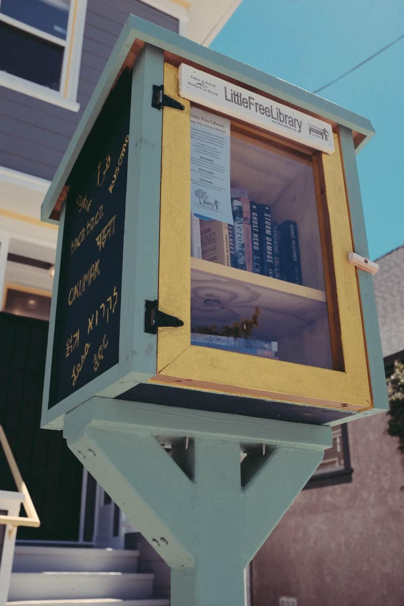 The most amazing thing I found is Free Little Library!