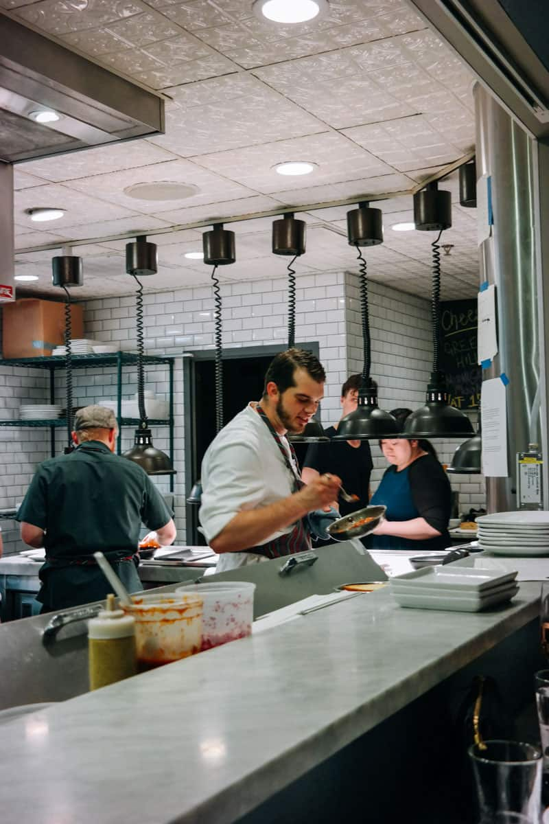 A peek inside the kitchen at The Borough in Minneapolis