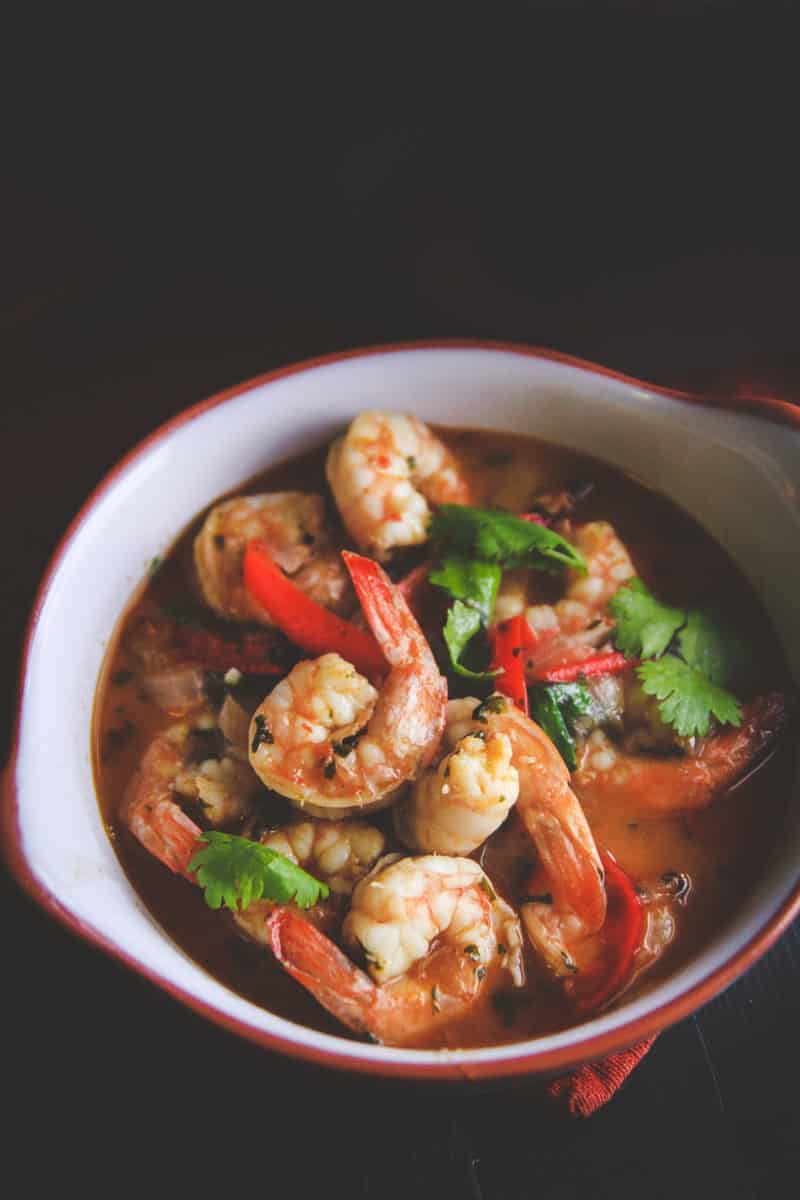 The best white wine garlic chili shrimp recipe
