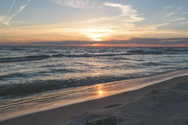 The most beautiful sunset on Lake Michigan