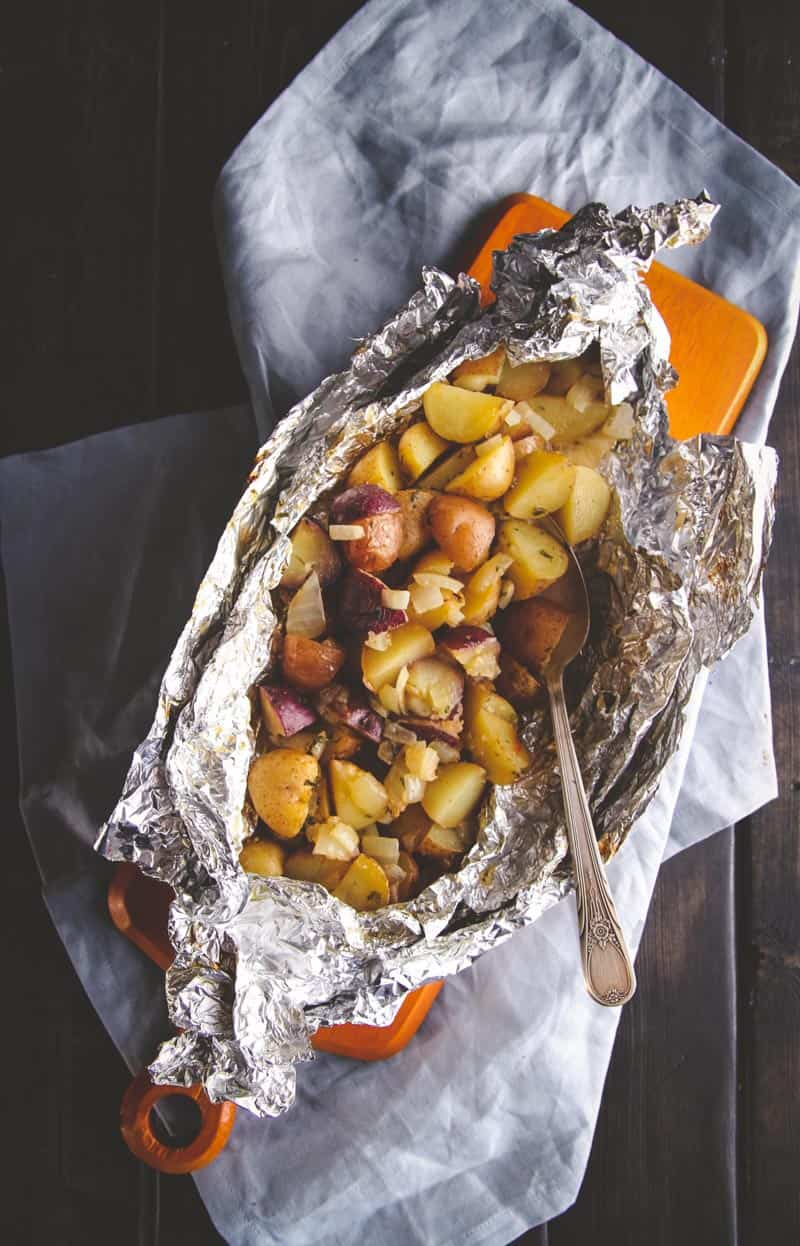 The most delicious grilled breakfast potato packet perfect for camping