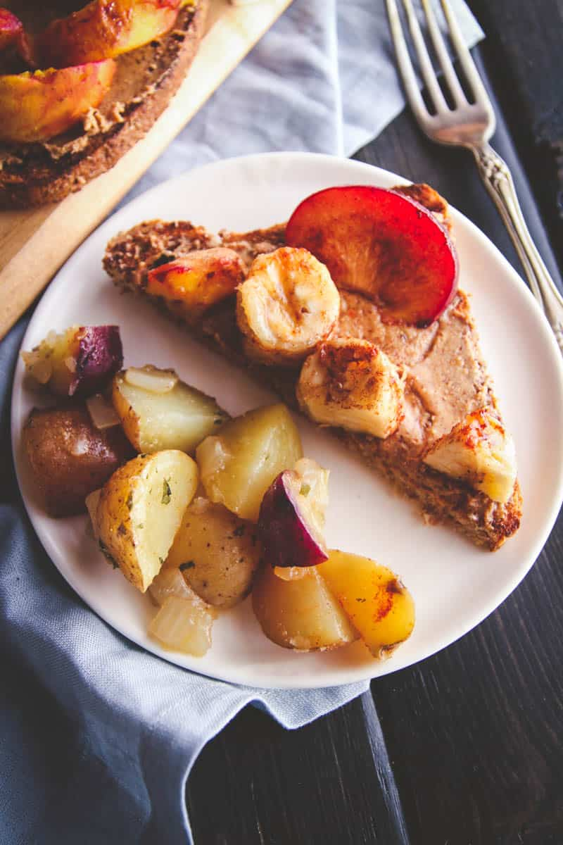 The best grilled fruit and almond butter toasts you will eat