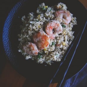 The best shrimp cauliflower fried rice from @sweetphi