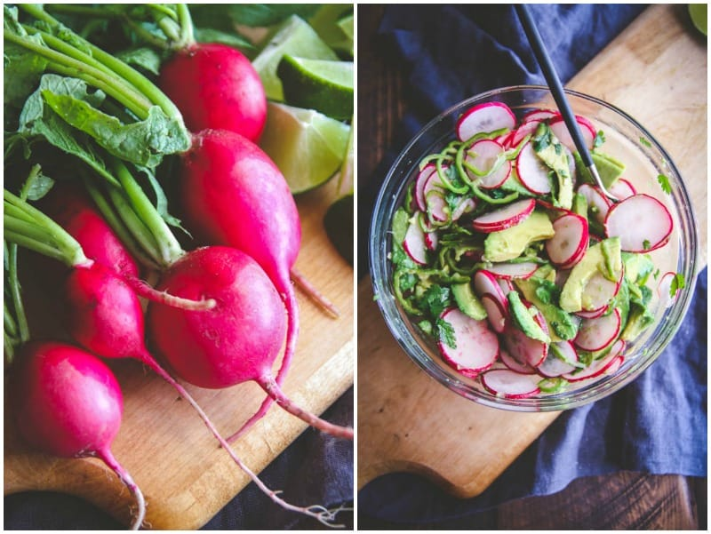 The best radish slaw topping for chicken tacos